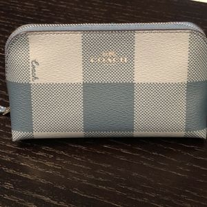 Coach Cosmetic Case 17 With Buffalo Plaid Print